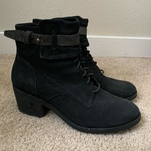 Dolce Vita Lace-Up Black Boots